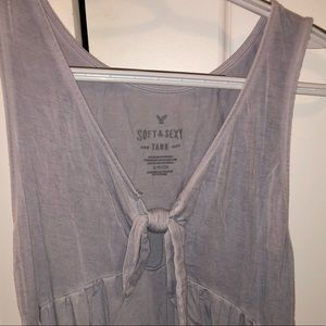 AMERICAN EAGLE O Soft & Sexy Tie Front Tank